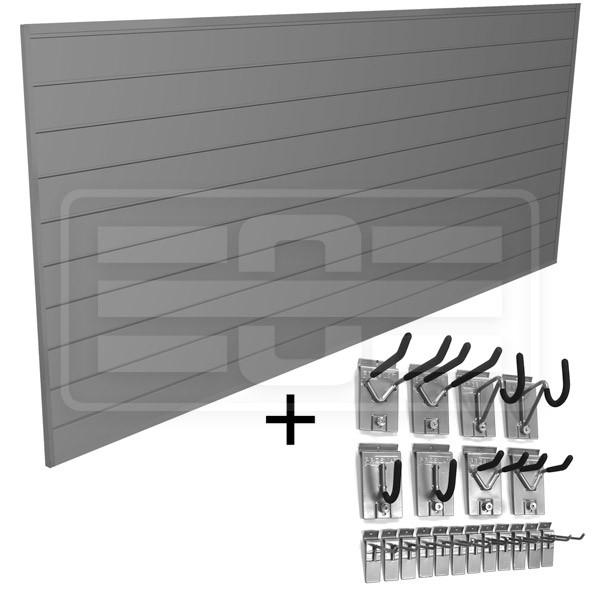 Wandpaneel-Haken-Kit grau